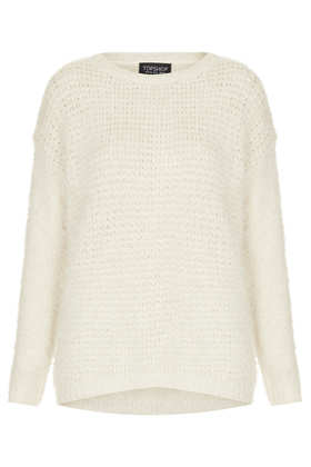 Knitted Stitch Fluffy Jumper - Knitwear  - Clothing  - Topshop