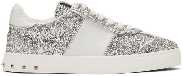 Valentino glitter sneakers silver shoes