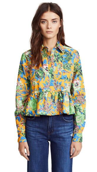 blouse floral print top