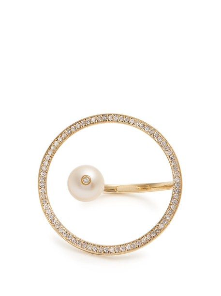 ANISSA KERMICHE pearl ring gold ring gold yellow jewels