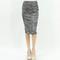 Two tone melange tweed gray mid length pencil skirt