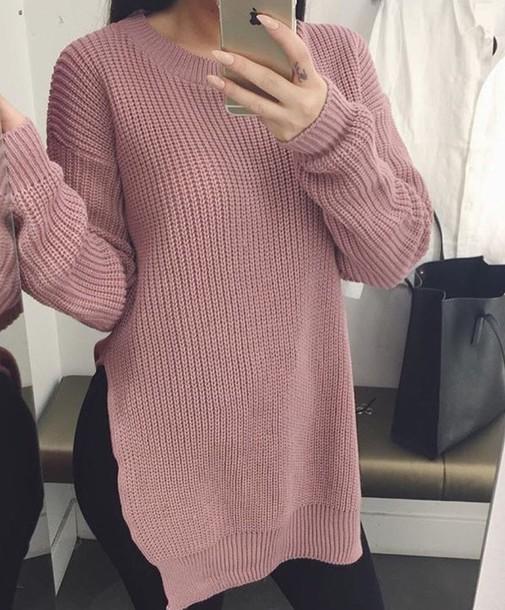 1f29e1578f73 blouse pastel sweater pink pink sweater oversized sweater sweater dress  knit knitted sweater cardigan jumper dusty