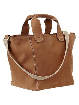 Crossbody leather tote | Gap