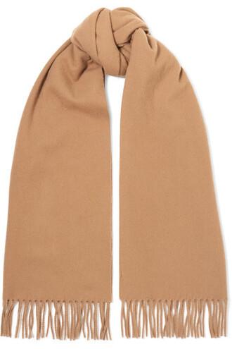 scarf wool camel