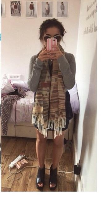 scarf aztec neutral colors beige
