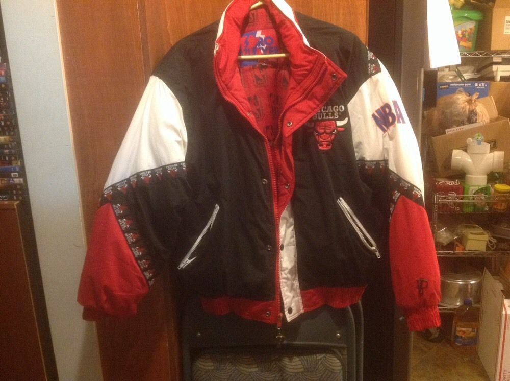 90 s CHICAGO BULLS Jacket XL by PRO PLAYER GUC Mens Vintage 9a3d9aca4605