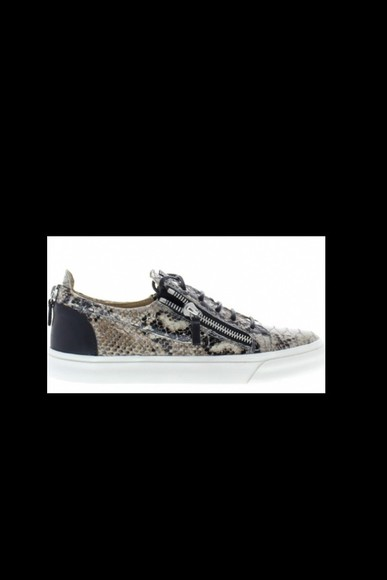 shoes giuseppe zanotti sneakers snake crocodile leather