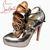 chauds Argenté Christian Louboutin Dillian Fleur Pompes Gris : Chaussures Louboutin Soldes Pas Cher