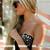 Silver Studded Lace Bustier - Black | RUNWAYDREAMZ