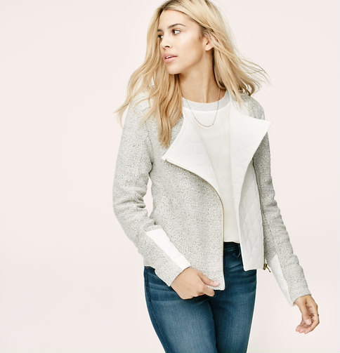 Lou & grey quilted moto jacket
