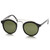 Retro Dapper Cross Bar P3 Round Aviator Sunglasses 8700