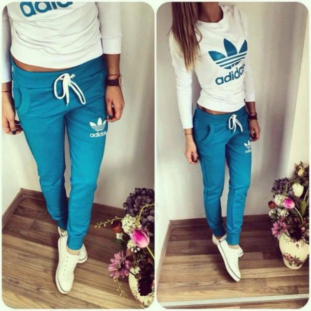 bec84326d13f pants blue adidas blouse trainers sweatpants joggers pants top jumpsuit  adidas tracksuit bottom blue adidas tracksuit