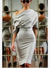 evening outfits,chic,grey dress,victoria beckham fall  2010,evening dress,elegant,victoria beckham,classy,dress,grey,fancy,elegant dress,fashion,fashion dress,off the shoulder