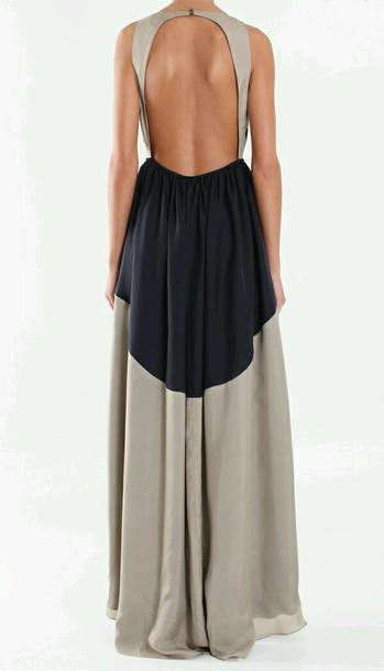 dress backless dress maxi dress