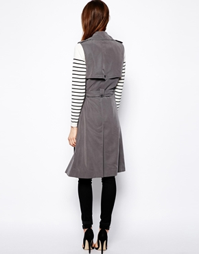 ASOS | ASOS Sleeveless Trench Coat at ASOS