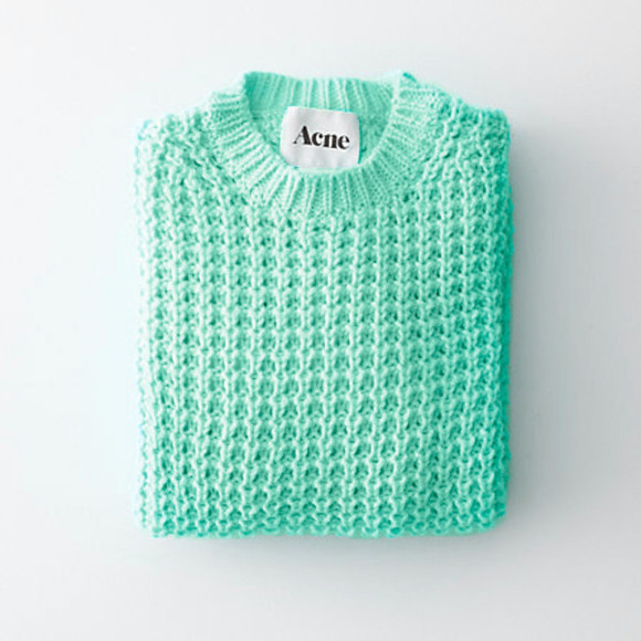 mint sweater acne studios