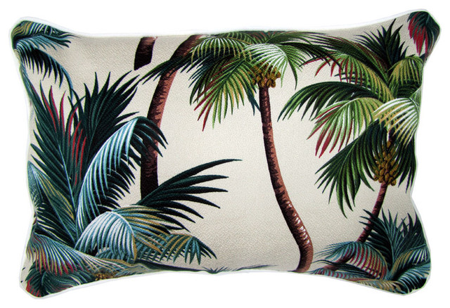 Sanctuary Palm Trees Fabric Cushion - Tropical - Pillows - by Wayfair Australia