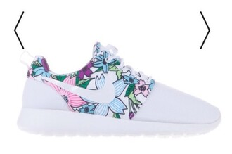 shoes nike shoes white nike nike shoes for women nike roshe run nike roshe run floral floral flowes nike roshes floral