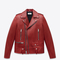 Saint laurent classic motorcycle jacket in red leather | ysl.com