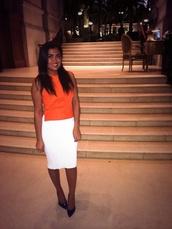 skirt,white,pencil skirt,bodycon,midi skirt