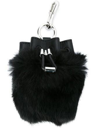 drawstring bag bucket bag black