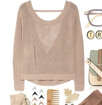 sweater pullover white classy winter sweater