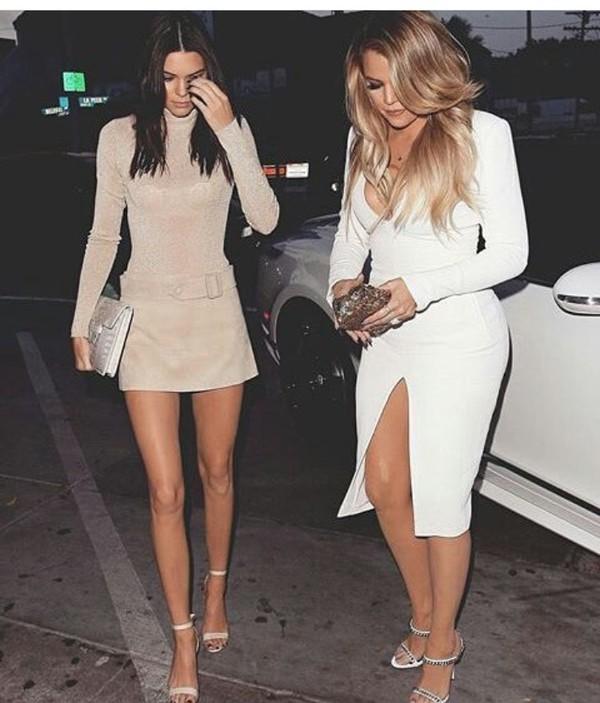 Dress Slit Dress Summer Dress Cute Dress White Dress Sexy Dress