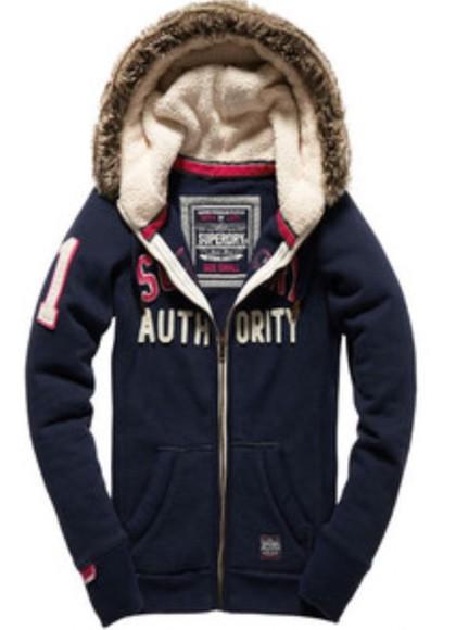 jacket fur hoodie superdry cut