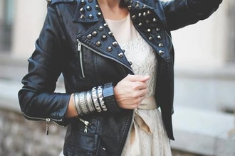 jacket leather badass cute dress tumblr grunge love cute dress