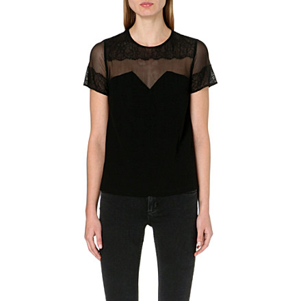 SANDRO - Enola short-sleeved woven top | Selfridges.com