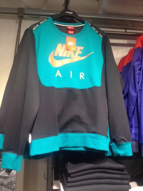 nike air black jumper