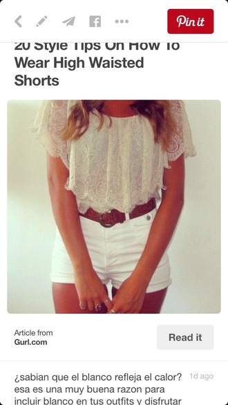 white high waisted shorts fashion cute style date outfit summer outfits summer top peasant top