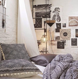 home accessory pillow creative pillows designs bedroom popular bedrooms indie boho boho bohemian hipster decorative cushions bedding duvet home decor duvet set optical grey urban outfitters
