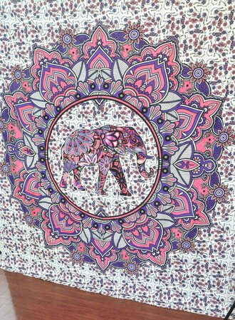 home accessory elephant pink mandala hippie queen bedcover wall decal wall decor home decor boho bohemian tapestry beach throw beach blanket hippie tapestry tapestry wall hanging living room decor indian bedspread coverlet sofa throw table runner wall paper blanket
