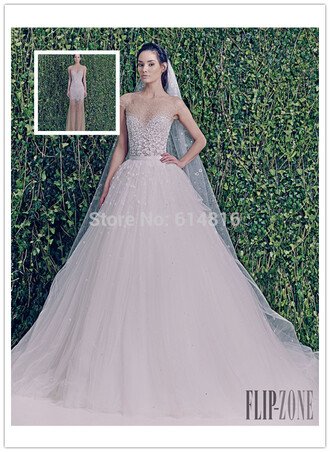 dress wedding dress wedding ball gown dress sheer bride flowers skirt mermaid