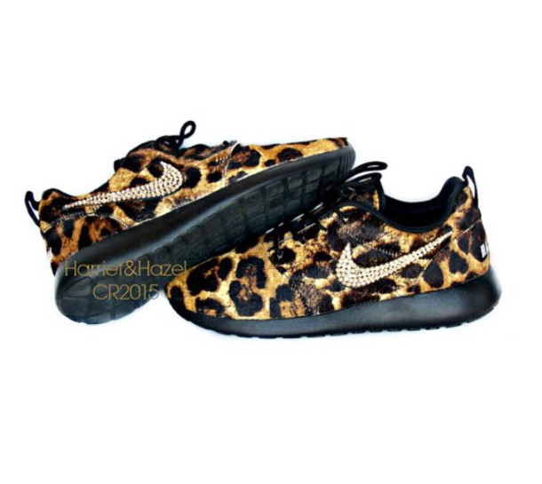 Black Cheetah Print Running Shoes