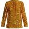 Tie-neck sequin-embellished top
