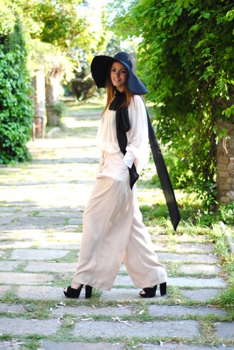 zina fashion vibe floppy hat black hat white hat hat