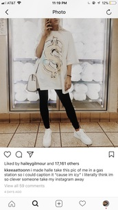 shirt,white shirt,baggy,money sign