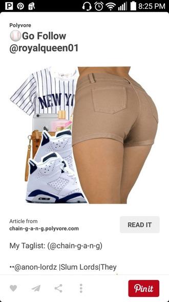shorts tan shorts high waisted shorts blouse