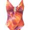 Lygia & nanny - printed swimsuit - women - polyamide - 44, orange, polyamide