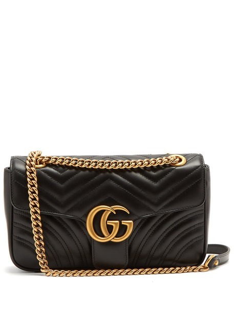 gucci quilted bag shoulder bag leather black