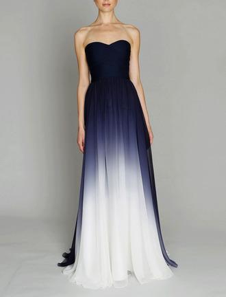 dress maxi dress ombre prom dress black to white