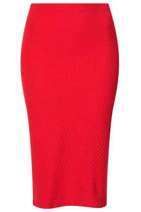 Texture Midi Tube Skirt - Topshop