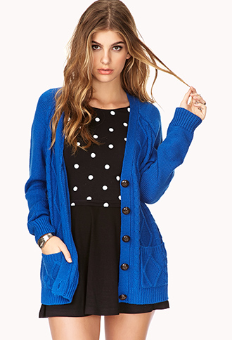Diamond Patterned Cardigan | FOREVER21 - 2030186865