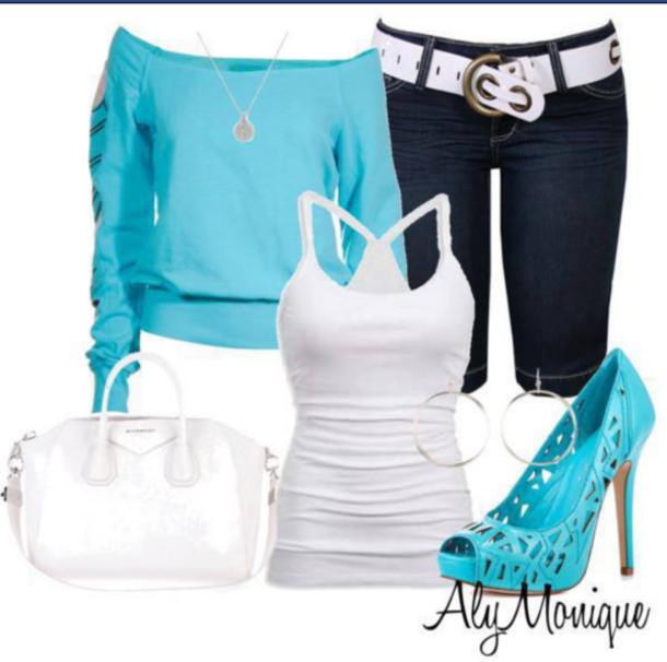 blouse aly monique jeans sweater shirt the blue top light blue