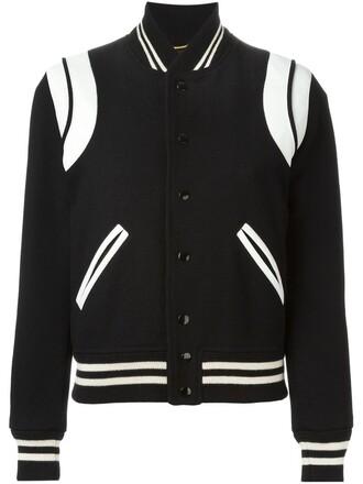 jacket varsity jacket varsity leather black