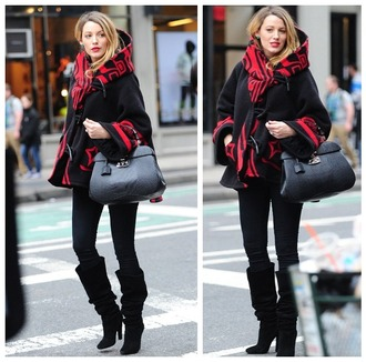 blake lively bag shoes coat pants