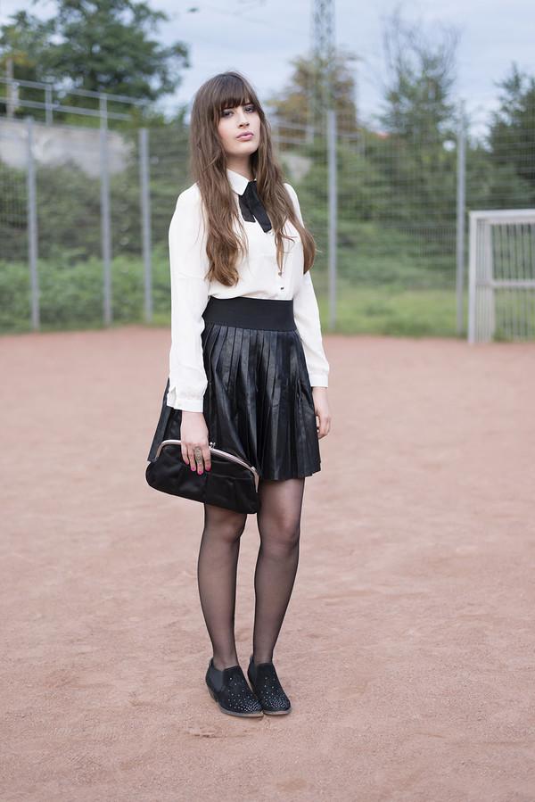 andy sparkles blogger blouse skirt bag shoes