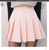 skirt,pink,tennis skirt,light pink